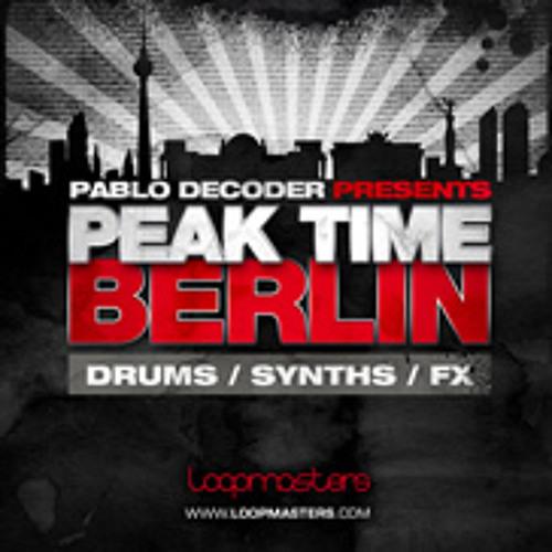 FREE WAV Drumloops from PeakTime Berlin pack by Pablo Decoder