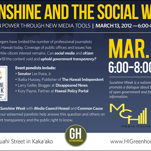 Sunshine and the Social Web: Citizen Power Through New Media Tools