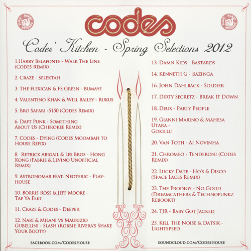 Codes' Kitchen - Spring Selections 2012
