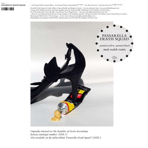 Passarella Death Squad - Painted Yellow, Painted Black (Matt Walsh Remix) FREE DOWNLOAD