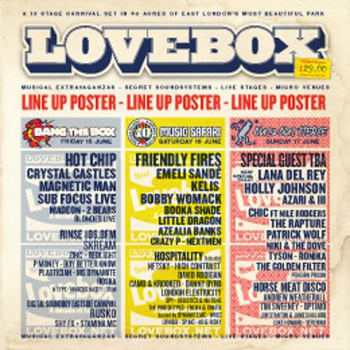 Hannah Holland's 2012 Lovebox Sunday OOF Mix