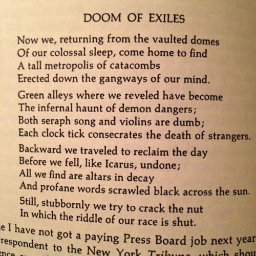 Sylvia Plath. Doom of Exiles