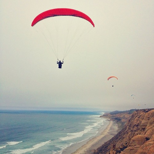 Paragliding to the sun