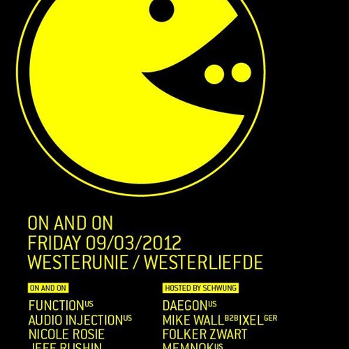 Mike Wall & Ixel b2b @ SCHWUNG Stage / ON and ON 09-03-2012 Westerunie, A'DAM