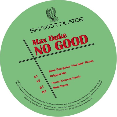 Max Duke - No Good ( Rene Bourgeois not bad Remix )-snippet