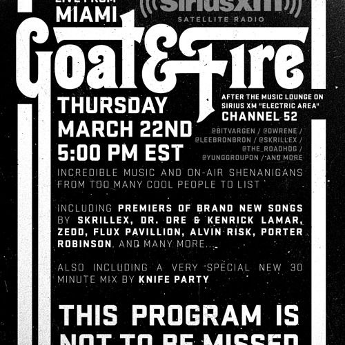 Goat & Fire Radio Episode 1 (Live From MMW) Part 3/4