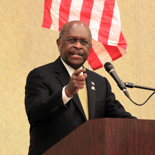 Hermain Cain comments on Mitt Romney's latest primary victories