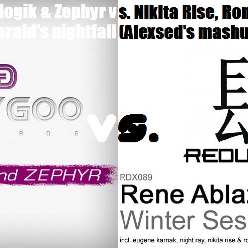 Nicologik & Zephyr vs. Nikita Rise, Roman Akrill - Emerald's nightfall (Alexsed's mashup)