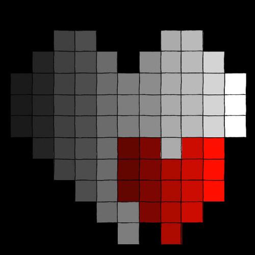My Faded Heart Print