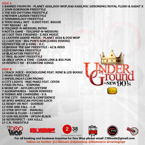 DOO WOP UNDERGROUND : THE NEW 90'S (SIDE A)
