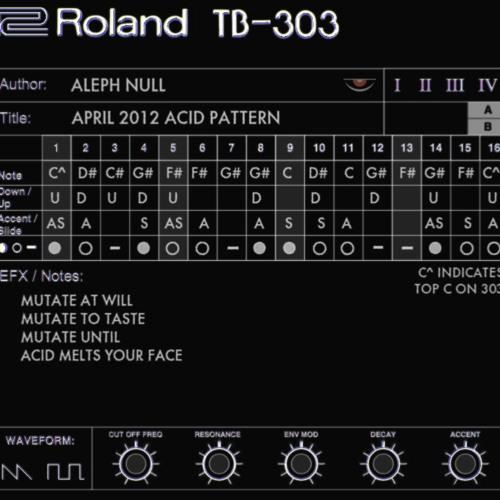 Aleph Null - Rocket 303 to Cosmos 808 [April Acid pattern]