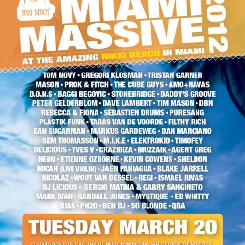 Agent Greg - Nikki Beach Miami 20 March 2012