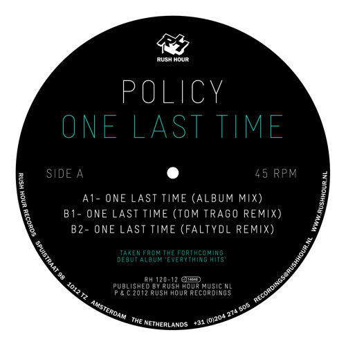 One Last Time (Tom Trago Rmx)