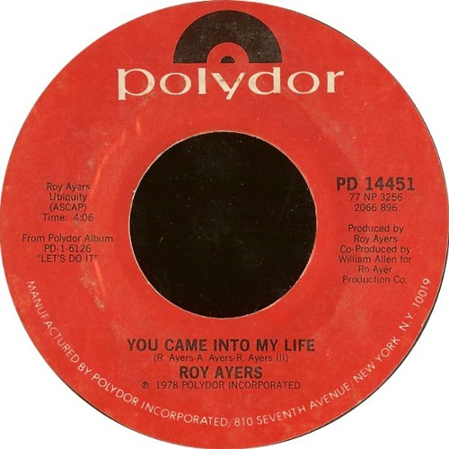 Roy Ayers ''You Came Into My Life'' (Absolute Love Edit) UNRL