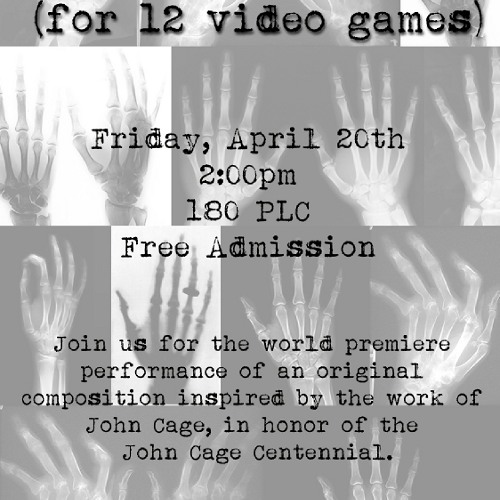 Imaginary John Cage no. 1 (for 12 Video Games)