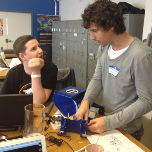 Debugging the @OpenROV inboard controls at TechShop - SF