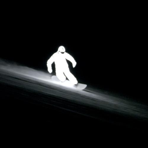 Glowing Man (L.E.D SNOWBOARDER)