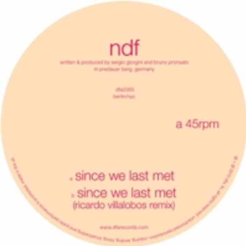 NDF - Since We Last Met (Banjo or Freakout cover)