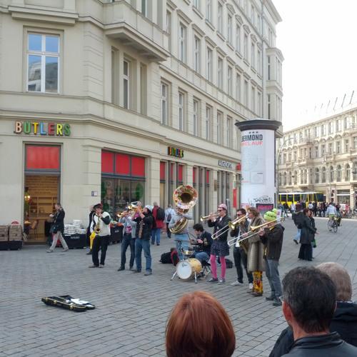 Brass Band Busting Ghosts at Monbijouplatz