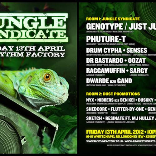 MIX: Phuture-T Live @ Jungle Syndicate London 13-04-12 alternative links inside