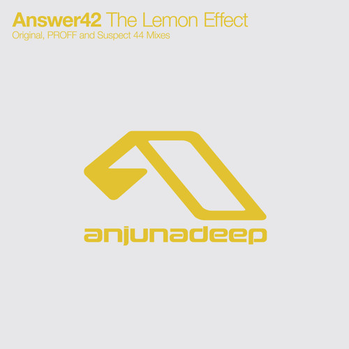 Answer42 - The Lemon Effect EP (Inc. PROFF and Suspect 44 mixes)