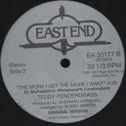 Teddy Pendergrass -The More I Get, The More I Want - Dj Friction ( Re-edit)