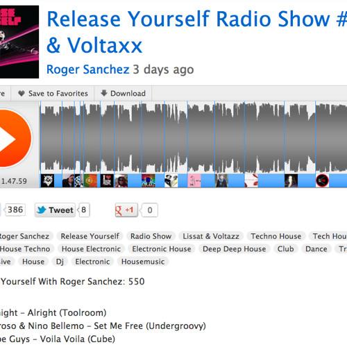 "Roger Sanchez supporting ""DJ Amoroso & Nino Bellemo - Set Me Free"" Release Yourself Radio Show #550"