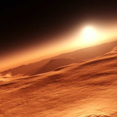 Red planet sunrise