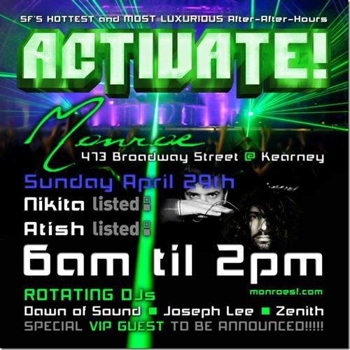 Zenith @ Activate! 29 April 2012