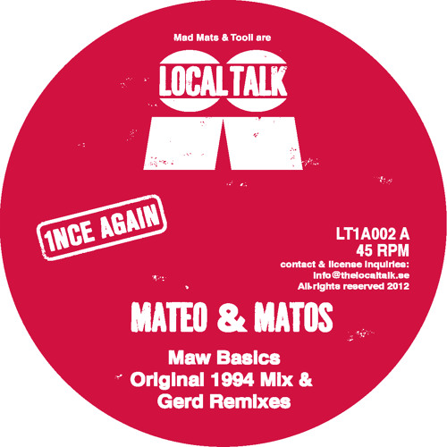 Mateo & Matos - Maw Basics (Gerd's Deep Mix) (LT1A002, Digital Bonus)