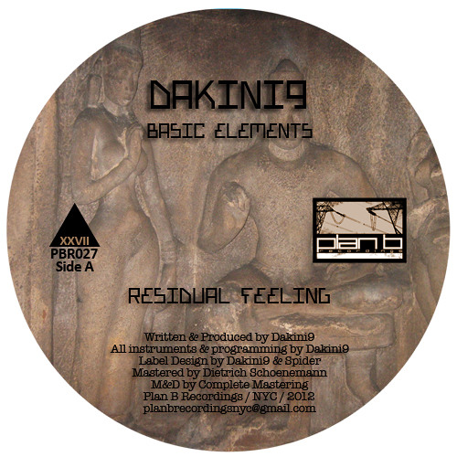 "Basic Elements - Dakini9 (10"" Vinyl Only Plan B Recordings PBR027)"