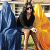 Ebby Mohseni interviewing Brishkay Ahmed director of Story of Burqa, Case of a Confused Afghan