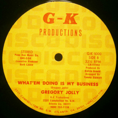 Gregory Jolly - What Em Doin Is My Business (Sensus Soul Funk Lounge Remix)
