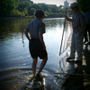 Catching Fish In The River at Boathouse - University Of Minnesota