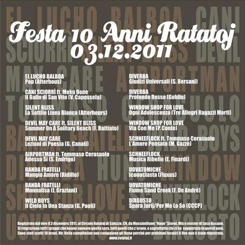 Live @ 10 Anni di Ratatoj
