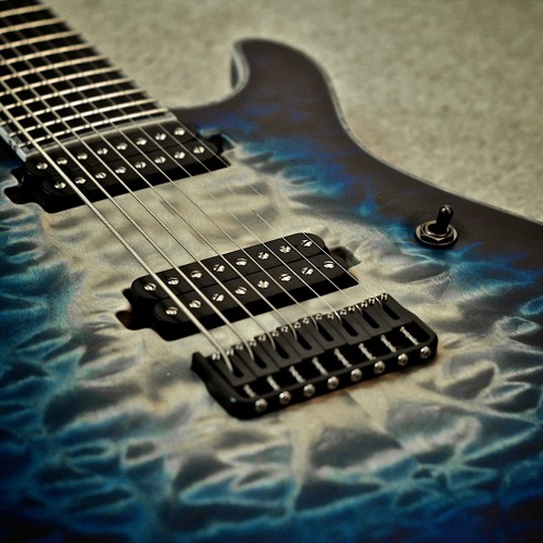 Mayones White/Blue Fade Regius 8 String Test Clip