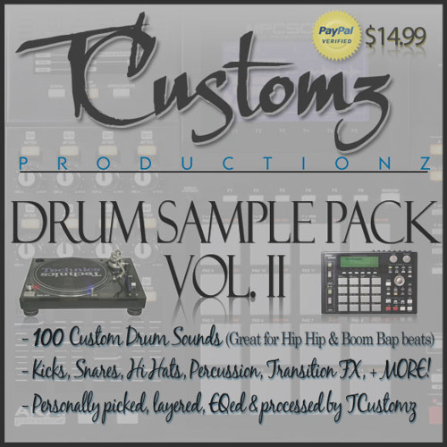 TCustomz Productionz Drum Sample Pack Vol. II *PREVIEW*