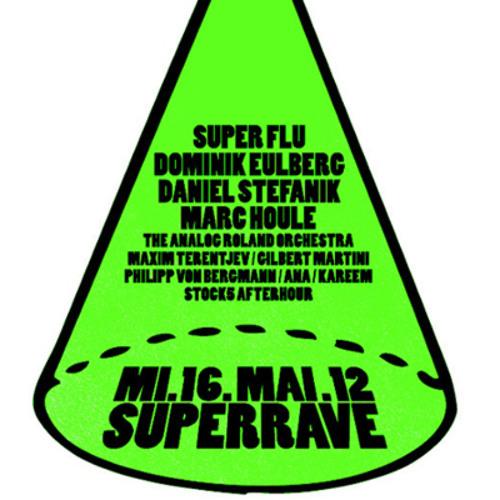 Super Flu @ Superrave München (live drums by Ole Biege)