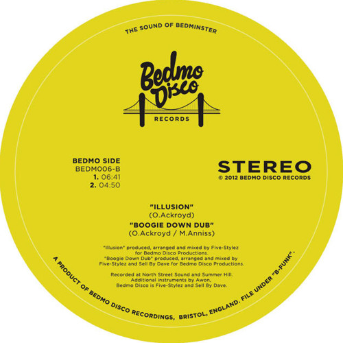 "BEDMO DISCO - ILLUSION (from BEDM006 ""B-FUNK"") - OUT NOW ON BLUE VINYL 12"""