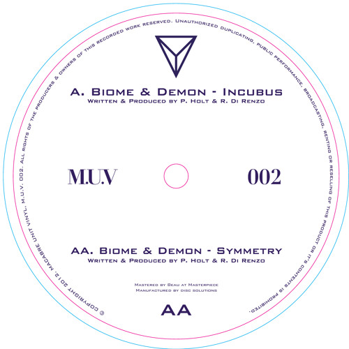 MUV002 - Biome & Demon - Incubus/Symmetry - OUT NOW