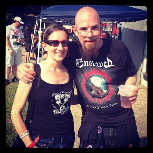 Tara and William from Belfon, Pennsylvania: Maryland Deathfest Portrait