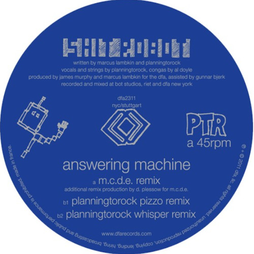 Shit Robot - Answer Machine - (Planningtorock pizzo remix)