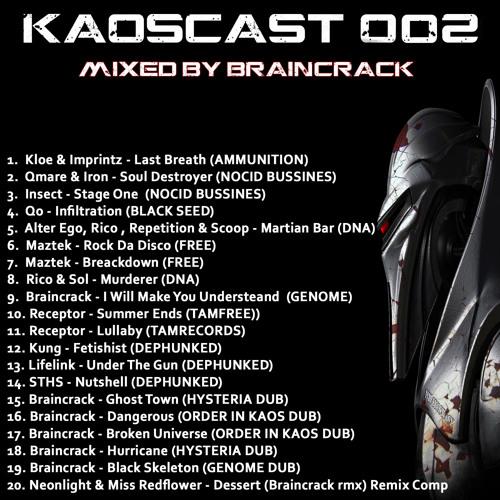 Kaoscast 002 Mixed by Braincrack 192kps
