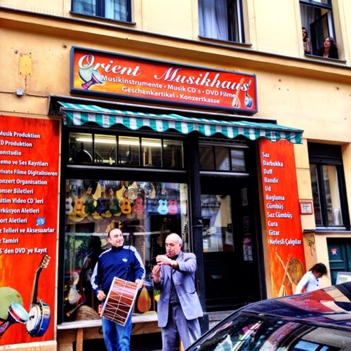 Cacophony of sounds on Adalbertstr at Orient Musikhaus