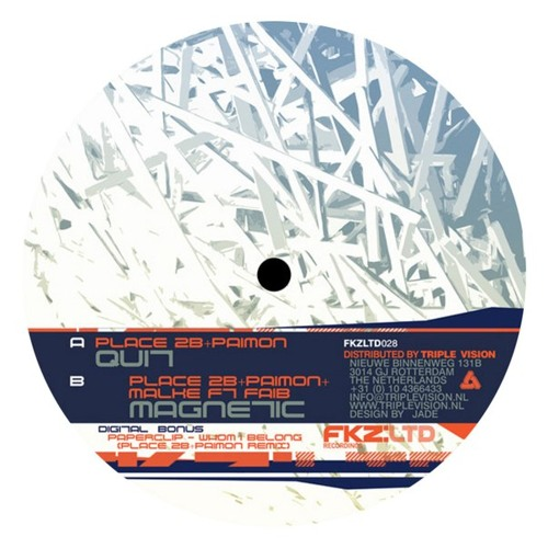 Place 2b & Paimon + Malk - Magnetic (feat. Faib) (FKZ:LTD) 12''