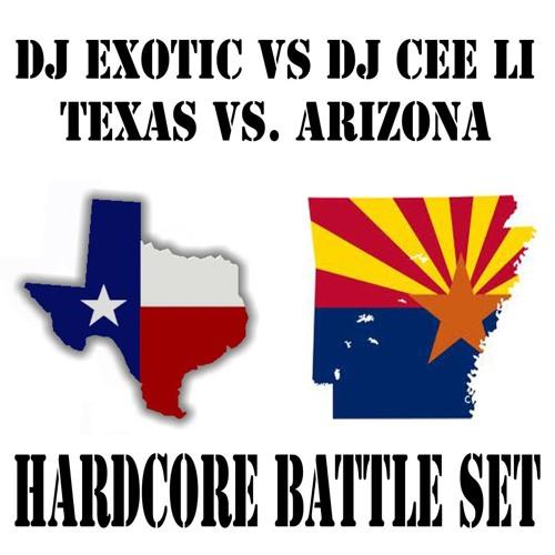 DJ EXOTIC Vs. DJCEE-LI--TEXAS VS ARIZONA (HARDCORE BATTLE SET) Part 2
