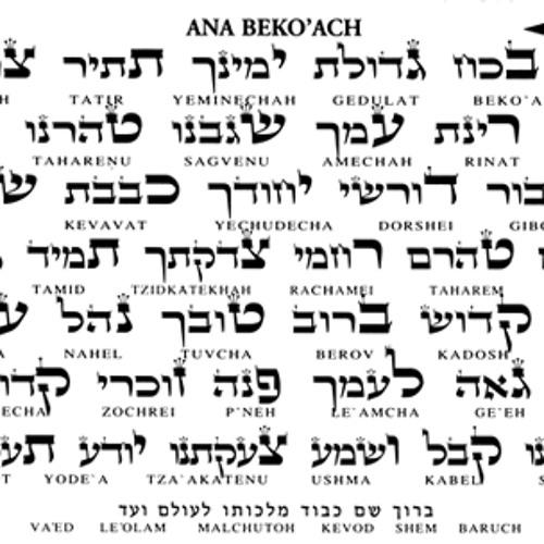 ANA B'KOACH - cele 42 de litere ale numelui lui Dumnezeu