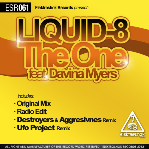 ESR061 Liquid-8 ft. Davina Myers - The One + Remixes (Out now @ Beatport)