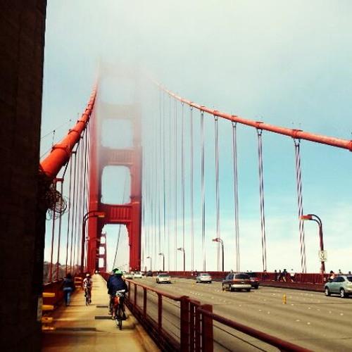 Cars Crossing at Golden Gate Bridge