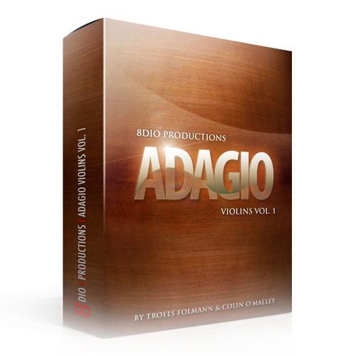 "8Dio Adagio Violins Vol. 1: ""Ensemble Loure & Solo Violin Legato + Bonus Phrases"" by Troels Folmann"